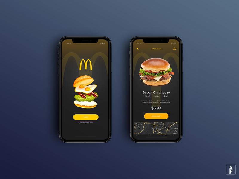 MCDONALD'S MOBILE DESIGN - 2019 simple branding uiux ux ui webdesign website banner website concept illustration website web logo flat minimal design modern burger food mcdonalds mcdonald