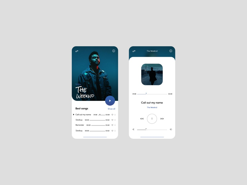Music Player Design - 2019 by AndreiFredy on Dribbble
