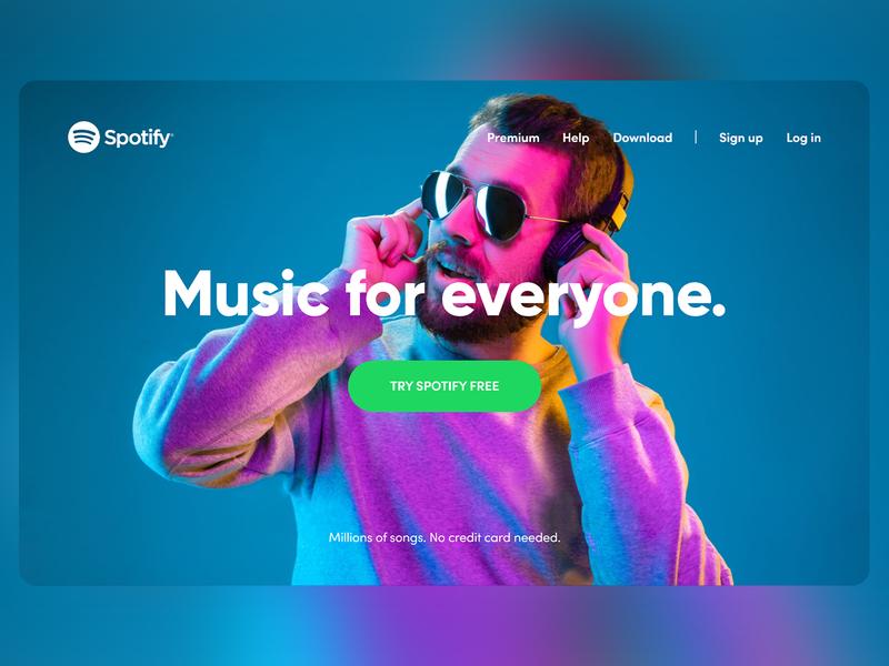 Spotify Web Redesign 2020 ux typography branding ui redesign spotify design minimal web modern website