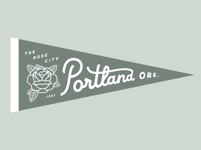 Portland Pennant oregon hometown rose pdx portland banner flag pennant
