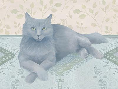 Vlad portrait still life pet cat digital sketch illustration