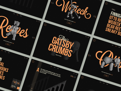 The Gatsby Crumbs Book of Verse design ui poems book interactive illustration short stories condensed font navigation ecommerce ipad storybook