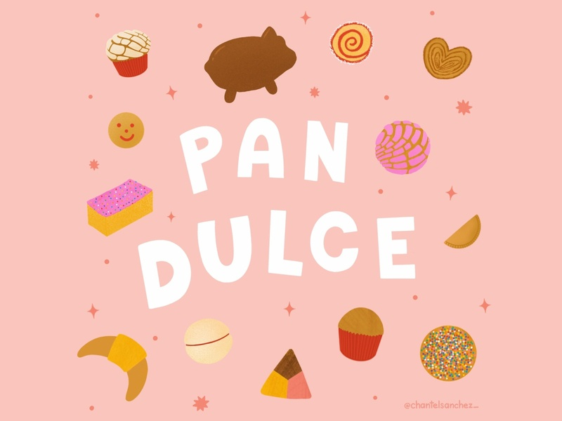 Pan Dulce dulce sweets mexican lettering typography design procreate illustration sweet