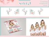 Creating magazine cover