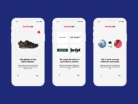 Minimalist On-boarding Concept Design for Fashion Centered App