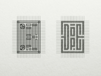 Logo design grid construction