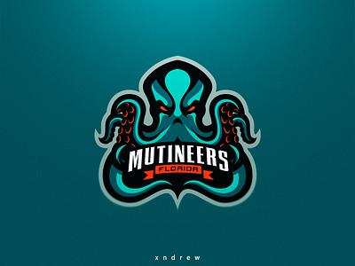 Florida Mutineers league cod mutineers florida angry branding vector illustration xndrew mascot logo esport design