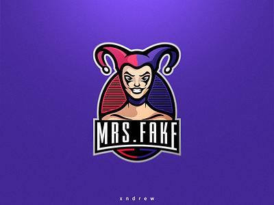 Harley Quinn batman joker harley quinn harley angry branding vector illustration esport xndrew mascot logo design