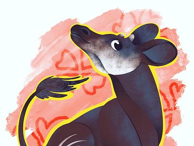 Okapi Party okapi digitalart procreate illustration illustrator animals zoo art