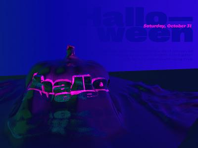halloween on saturday dribbbleweeklywarmup halloween halloween design poster design cinema 4d typography design poster c4d graphic design
