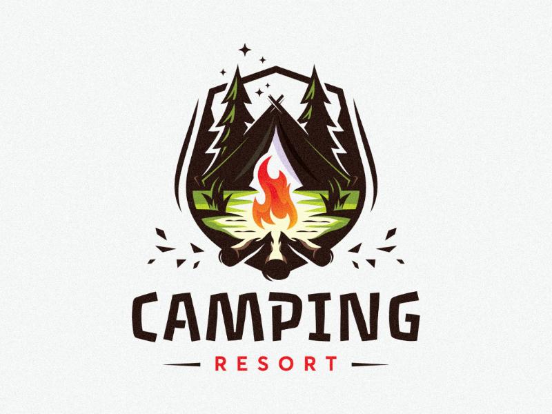 Camping resort branding awesome inspiration holidays camping inspire ideas design logo