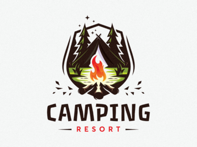 Camping resort branding awesome inspiration holidays camping inspire ideas design logo