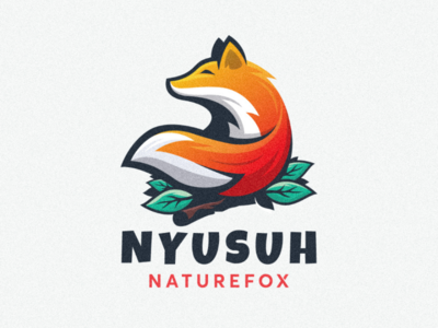 Fox logo ilustration icon design fox cute colorful professional awesome inspiration logo design