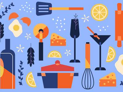 Sharebite Cuisine Card: French & Italian sharebite restaurant cuisine italian french wine food illustration food illustration