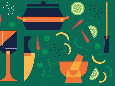 Sharebite Cuisine Card: Brazilian & Cuban cuban brazilian cuisine sharebite restaurant food illustration food illustration