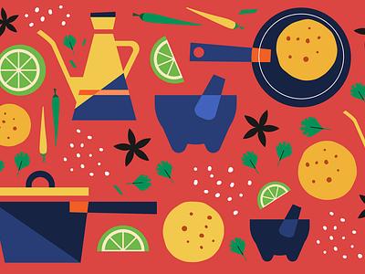 Sharebite Cuisine Card: Latin American molcajete tortilla latin america cuisine design sharebite restaurant food illustration food illustration