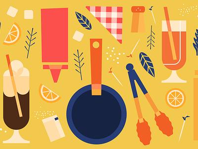 Sharebite Cuisine Card: Diner american milkshake diner coffee cafe cuisine design sharebite restaurant food illustration food illustration