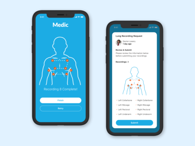 Medical App - IOT Lung Recorder