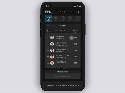Fantasy Sports App: Queue