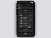 Fantasy Sports App: Menu