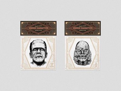 Horror Characters - temporary tattoos