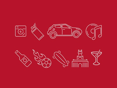 Madrid city guide - icons