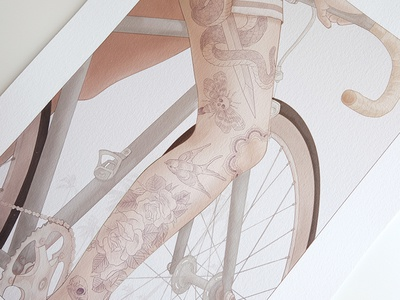Print girls on bikes