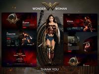 Wonder Woman Landing Page