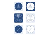 Sail Navigation App Icons