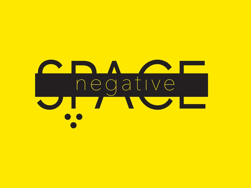Negative Space typo gestalt logotype logo typography graphicdesign design