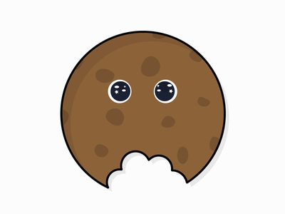 Poor little cookie... character illustration