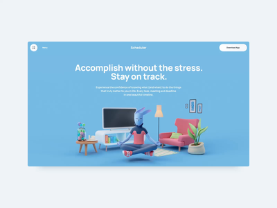 Scheduler — Home Page website web ux ui page minimal illustration design colors app