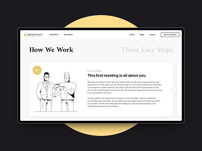 Prometheus — How We Work website ux ui minimal logo design creative clean branding app