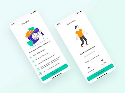 Motus Bank — Modals minimal ux ui page app color ux design ui design creativity website people web design illustration 3d