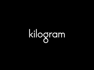 Kilogram - Logo Design blackandwhite clean minmalism visualidentity identity branding logo logodesign graphicdesign design