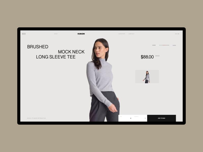 Experiments. Kimon Online Store #01 desktop minimalism online store typography store concept photo clean uiux web ui ux design minimal grid