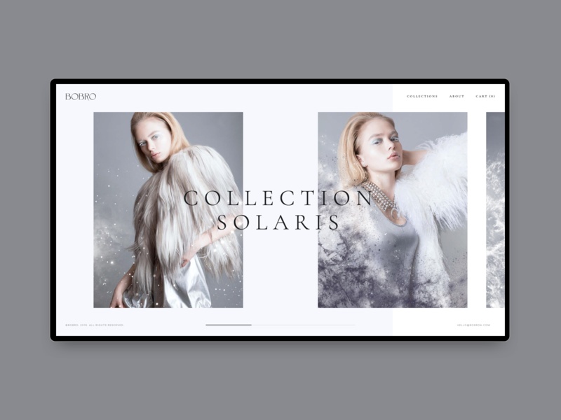 Bobro — Collection Page typography photo online store minimalism uiux clean web ui ux grid