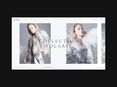 Bobro — Collection Page animation online store gif minimalism uiux clean web ui ux grid