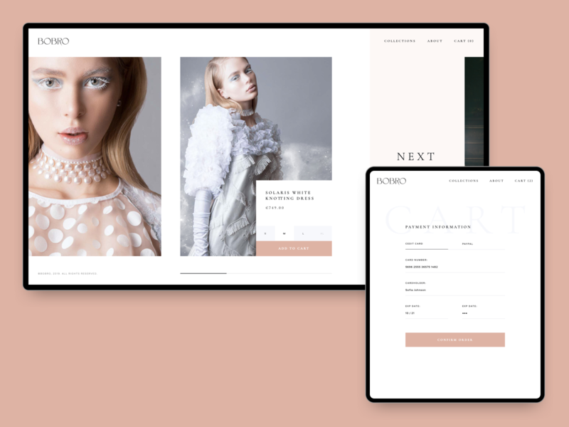 Bobro — Checkout online store minimalism photo typography clean web ui grid ux minimal