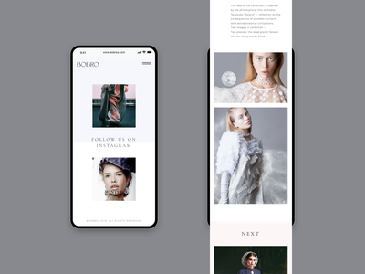 Bobro — Mobile clean animation gif mobile online store minimalism typography web ui ux grid