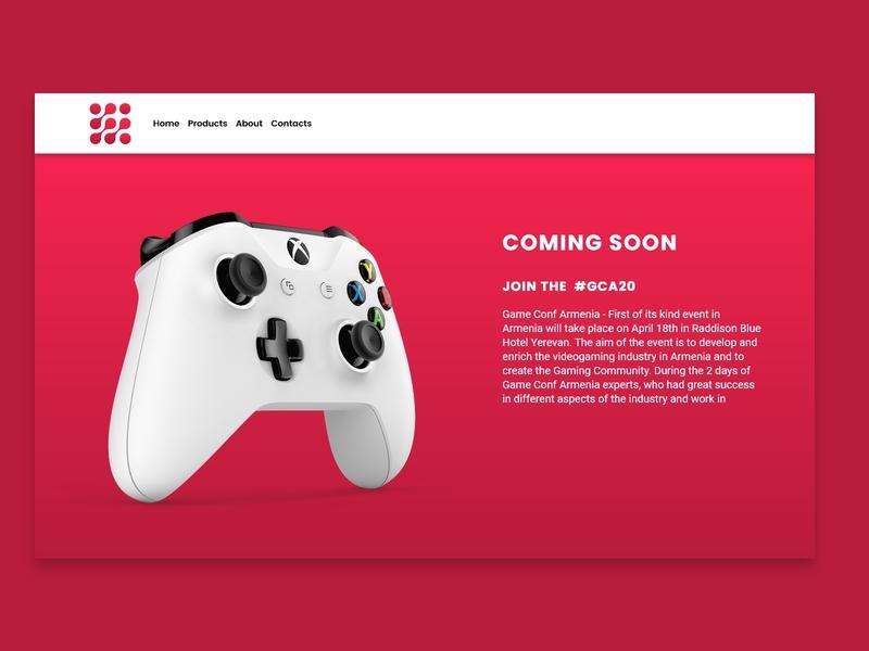 Gaming Software Landing Page