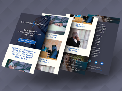 Corporate Solutions Mobile Website