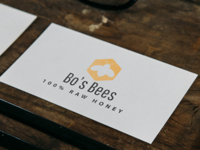 Bo's Bees Logo Mock-up