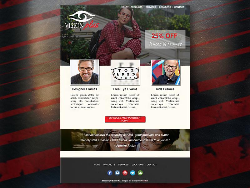 Vision Plus Desktop Web Design mockup logo illustrator homepage design home page homepage gradient design creativity creative branding brand