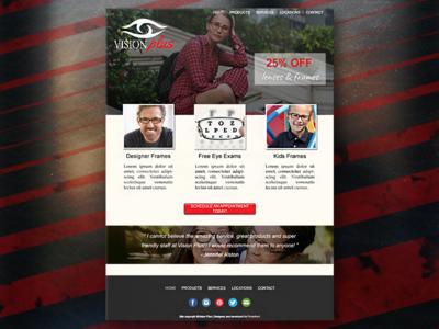 Vision Plus Desktop Web Design