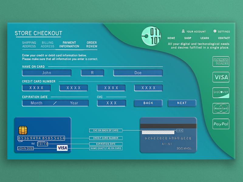 Checkout Payment Page Design credit checkout ecommerce webdesign web design photoshop illustrator gradient form design creativity creative