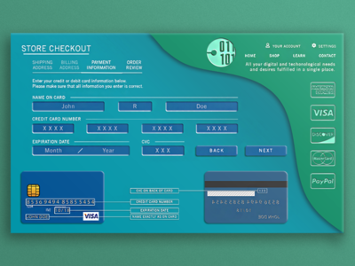 Checkout Payment Page Design