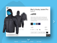 Wildcraft Jacket | Product Page Redesign | 2018