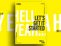 LET's GET STARTED | MAKE & LEARN | Poster 002 | 2019
