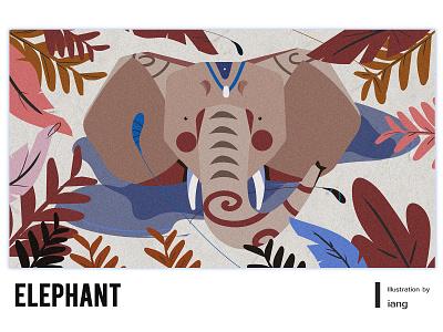 elephant & 1 invitation illustration invitation elephant